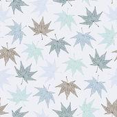 Maple leaves pattern — Stock Vector