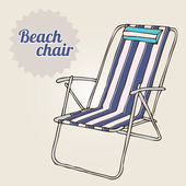 Illustration beach chair. Travel background — Stock Vector