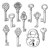 Keys set — Stock Vector