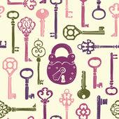 Keys seamless pattern — Stock Vector