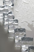 Wet ice cubes objects — 图库照片