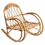 Rocking wicker chair — Stock Photo
