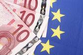 Ten euro banknotes — Stock Photo