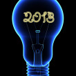 X-Ray lightbulb with sparkling 2013 digits inside — Stock Photo #16647879