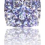 Square shaped diamond on glossy white — Stock Photo