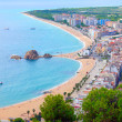 Panorama view of Blanes seaside and Sa Palomera rock — Stock Photo #25645445