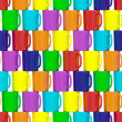 Seamless background composed of colorful ceramic cups — Stock Photo
