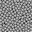 Background composed of many soccer balls — Stock Photo