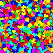 Sfondo è composto da molti cuori colorati — Foto Stock
