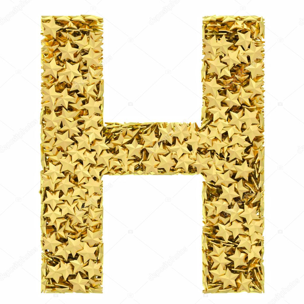Letter H lapel pin This pin is cast from a jewelers metal and is plated in gold We hand polish each pin to give it a smooth mirror like finish