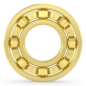 Golden bearing on white background — Stock Photo