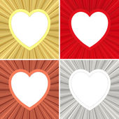 Set of blank heart shaped colorful frames — Stock Photo
