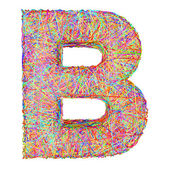 Alphabet symbol letter B composed of colorful striplines — Stock Photo