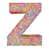 Alphabet symbol letter Z composed of colorful striplines — Stock Photo