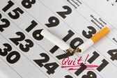 时间要戒烟 — 图库照片