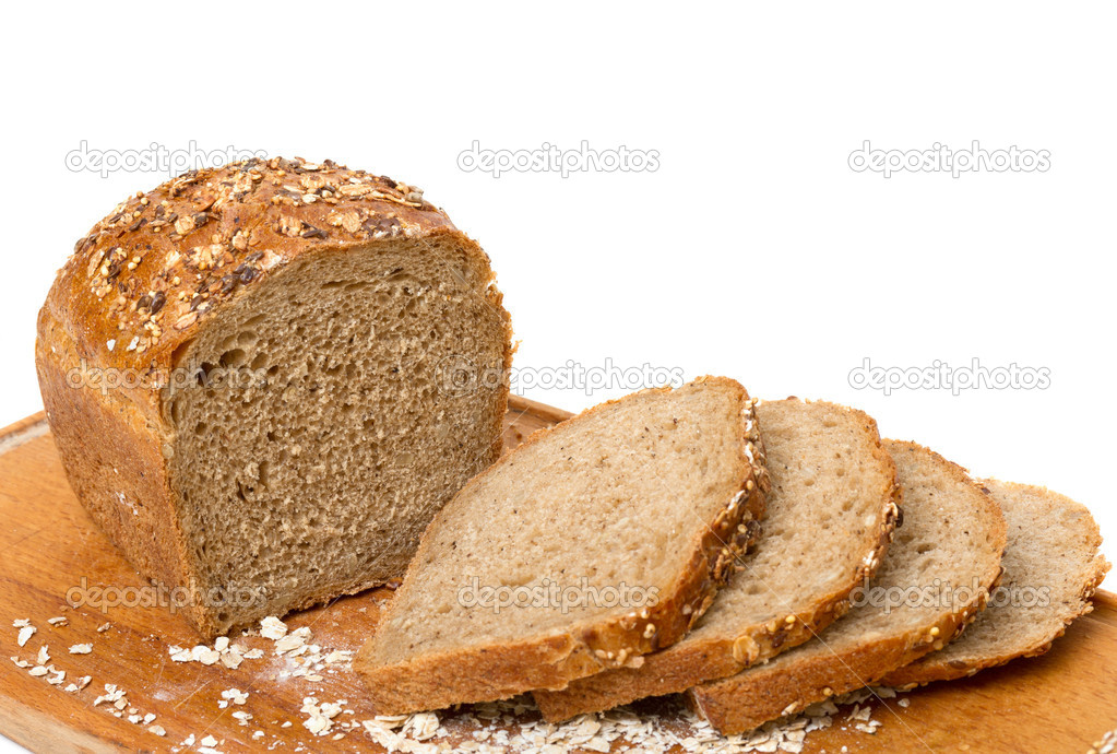 Sliced bread on a white background — Stock Photo #14721255