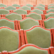 Concert hall green chairs — Stock Photo #18653733