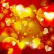 Stock Photo: Festive background with hearts