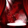 Movie or theatre curtain with some glitters on it — Stok Fotoğraf #25215635
