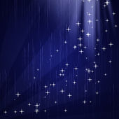 Stars in wave pattern — Stock Photo