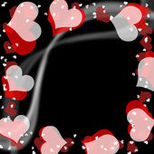 Valentine pattern, frame — Stock Photo