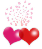 Κόκκινη καρδιά — Φωτογραφία Αρχείου