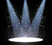 聚光灯在舞台幕布 — 图库照片