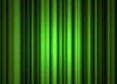 Işık ve gölge ile yeşil sahne perdesi — Stok fotoğraf