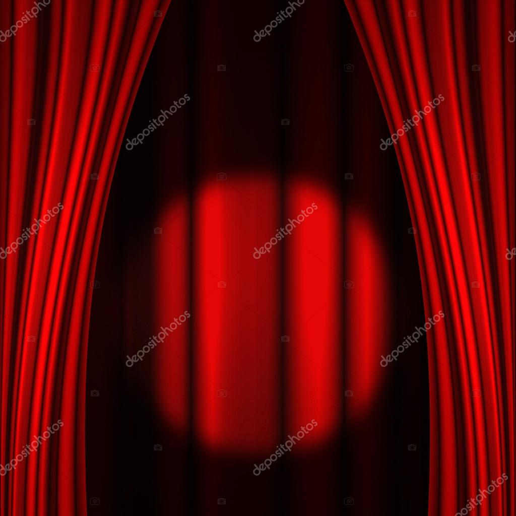 Stage curtains spotlight - Stage Curtain Spotlight Spotlight On Stage Curtain