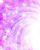 Christmas pink background with snowflakes — Stock Photo