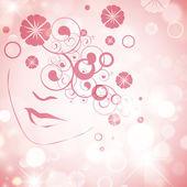 Abstract Woman Face — Stock Vector
