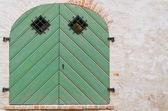 Yeşil kapı — Stok fotoğraf