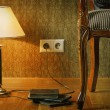 Stock Photo: Lamp and Chair