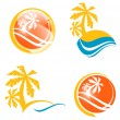 Summer Travel Icon Set — Stockvectorbeeld