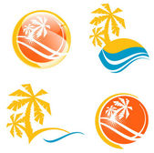 Summer Travel Icon Set — Stock Vector