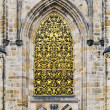St. Vitus Cathedral Window — Stock Photo
