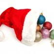 Christmas hat with Christmas balls — Stock Photo #2290370