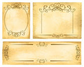Vintage Paper Border Set — Stock Vector