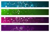набор цветочных баннеров — Cтоковый вектор