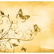 Vintage Butterfly Background — Stock Vector