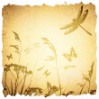 Vintage Summer Meadow Background — Stock Vector
