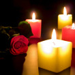 Rose with candles — Stock Photo #2795844