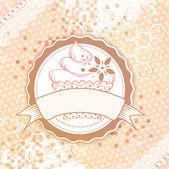 蛋糕背景 — 图库矢量图片