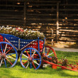 Cart With Flowers — Stok fotoğraf