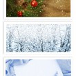 Christmas and New Year Greetings Cards — Stock Photo