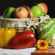 Still Life of Fruit And Vegetables — Stock Photo