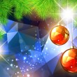 Christmas and New Year Background — Stock vektor