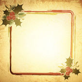 Vintage Christmas Frame — Stock Vector