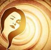 Kadının yüzü — Stok Vektör