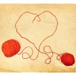 Heart Knitting — Stock Photo